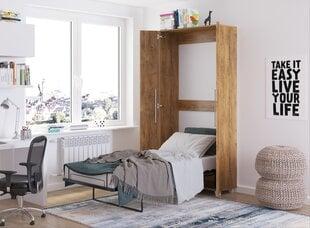 Sienas gulta Meblocross Teddy 90, 90x200 cm, brūna