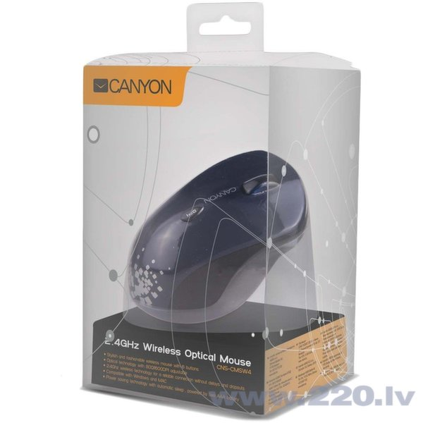 Optiskā bezvadu peleCANYON CNS-CMSW4BL, Zils
