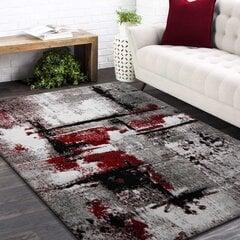 Paklājs pelēks/sarkans 120x170cm