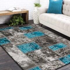 Paklājs pelēks/tirkīza 160x220 cm