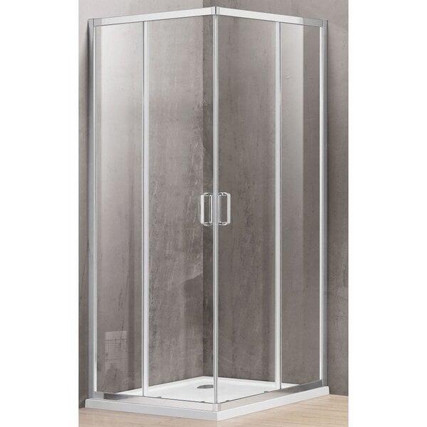 Četrstūraina dušas kabīne A1142 90x90 caurspīdīga, bez paliktņa (tikai stikls)