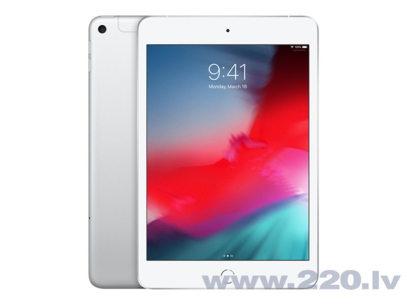 "Apple iPad mini 7.9"" Wi-Fi+4G 64GB, Sudrabains, 5th gen, MUX62HC/A cena"