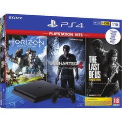 Sony PlayStation 4 (PS4) Slim 1TB + Horizon Zero Dawn + Uncharted 4 + The Last of Us