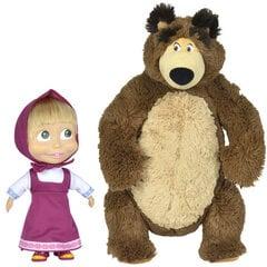 Plīša Lācis un lelle Maša Maša un Lācis, 43 cm, 23 cm cena un informācija | Mīkstās (plīša) rotaļlietas | 220.lv