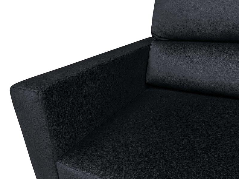 Universāls mīkstais stūra dīvāns BRW Morant, melns