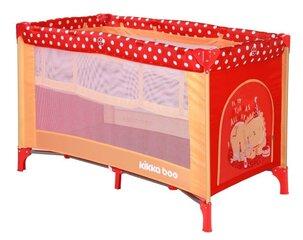 Divu līmeņu ceļojumu gultiņa Kikkaboo Pyjama Party Red Lion 2 levels cena un informācija | Divu līmeņu ceļojumu gultiņa Kikkaboo Pyjama Party Red Lion 2 levels | 220.lv