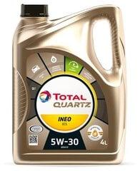 TOTAL Quartz INEO ECS 5W-30 motora eļļa, 4L cena un informācija | TOTAL Quartz INEO ECS 5W-30 motora eļļa, 4L | 220.lv