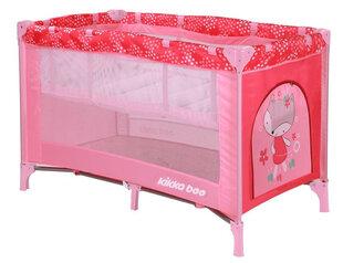 Divu līmeņu ceļojumu gultiņa Kikkaboo Pyjama Party Pink Fox 2 levels cena un informācija | Divu līmeņu ceļojumu gultiņa Kikkaboo Pyjama Party Pink Fox 2 levels | 220.lv