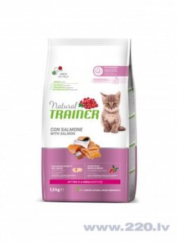Trainer Natural Cat Kitten Chicken kaķiem ar lasi 1,5kg