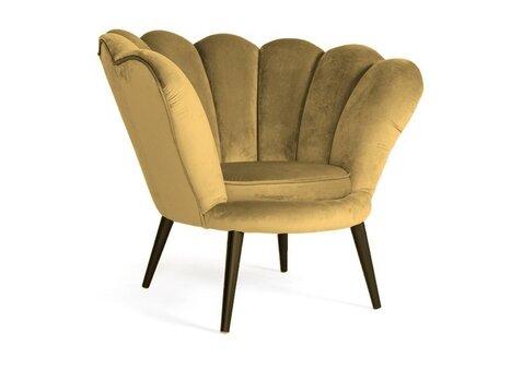 Krēsls Signal Meble Magnolia Velvet, dzeltens/tumši brūns