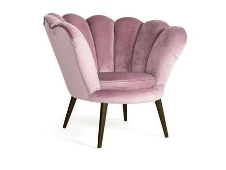 Krēsls Signal Meble Magnolia Velvet, rozā/tumši brūns