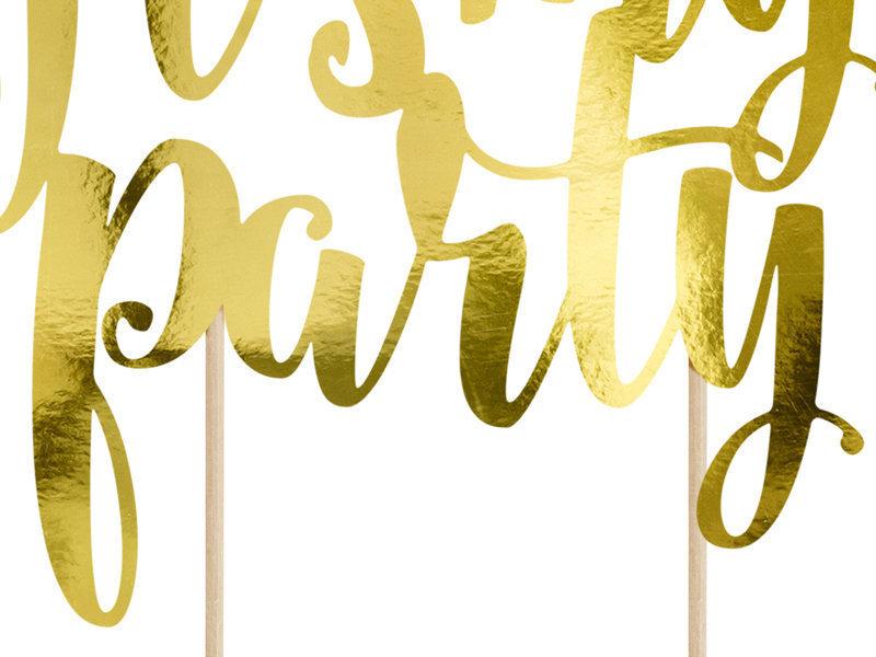 Iespraužama dekorācija It's my party gold 20,5 cm (1 kaste/ 50 gab.)