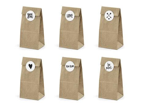 Uzkodu maisiņi Kraft 8x18x6 cm (1 iepakojums / 6 gab.)