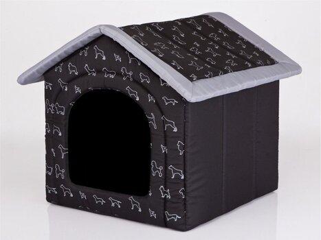 Gultiņa-būda Hobbydog R3 suņi, 52x46x53 cm, melna