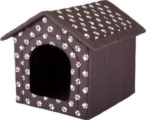 Gultiņa-būda Hobbydog R6 pēdiņas, 76x72x74 cm, brūna