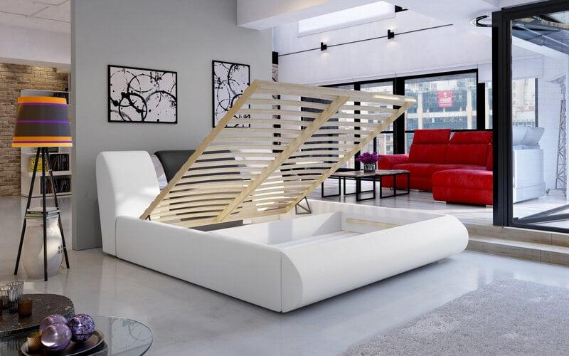 Кровать Flavio, 140х200 см, серая