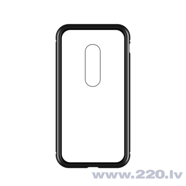 Wozinsky Magnetic Case Full Body Front and Back Cover piemērots OnePlus 7 black-transparent