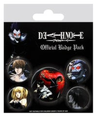 Badges 5-Pack - Death Note, 1x38mm x 4x25mm