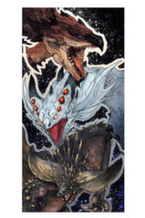Monster Hunter: World - Monsters Towel, 70x35cm (88% Poliesters, 12% Poliamīds)