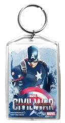 Marvel Civil War - Captain America PolyPix Akrila atslēgu piekariņš