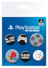 Badges 6-Pack - PlayStation (Classic), 2x32mm x 4x25mm