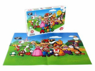 Super Mario - Mario Friends Puzzle incl. Постер, 48x34см, 500 Pieces