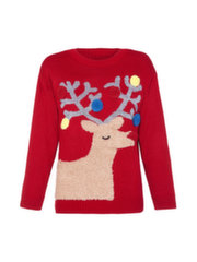 Džemperis sievietēm Iska Christmas Light Reindeer Jumper, ML4417
