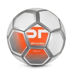 Futbola bumba Spokey Mercury, 5. izmērs, balta/ozranža cena un informācija | Futbola bumbas | 220.lv