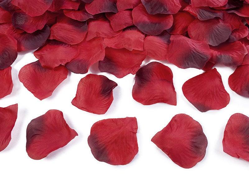 Dekoratīvas rožu ziedlapiņas, sarkanas, 1 iepak./500 gab.