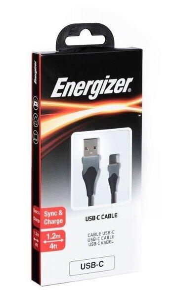 Energizer USB-C vadss 1.2m, Melns