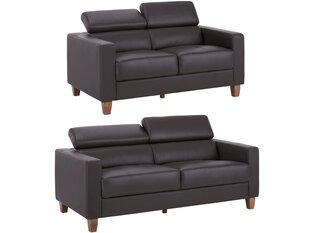 Divvietīgu un trīsvietīgu dīvānu komplekts Lopez GL, brūns