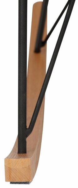Krēsls Naomi, pelēks/melns lētāk