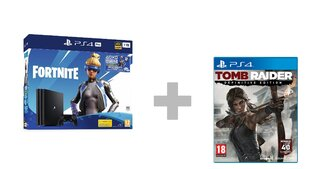 Sony PlayStation 4 (PS4) Pro, 1 TB + Fortnite Neo Versa + Tomb Raider Definitive Edition