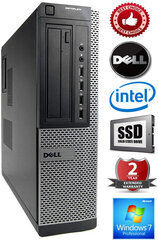 DELL Optiplex 7010 Intel®Pentium G630 2.70GHZ 2GB 120SSD DVD Windows 7 Professional (Atjaunots)