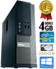 Dell Optiplex 390 i5-2400 4GB 250GB DVDRW Windows 10 Professional Dators cena un informācija | Personālie datori | 220.lv