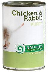 Nature's Protection Puppy Chicken&Rabbit konservi suņiem ar vistu un trusi, 400g cena un informācija | Konservi suņiem | 220.lv