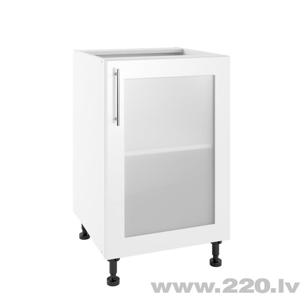 Virtuves skapītis Lupus Luna 1DS 50 cm, balts
