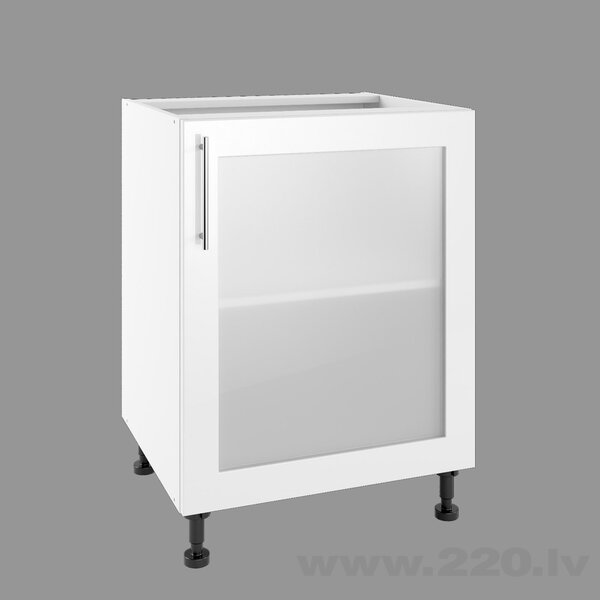 Virtuves skapītis Lupus Luna Gloss 1DS 60 cm, balts cena