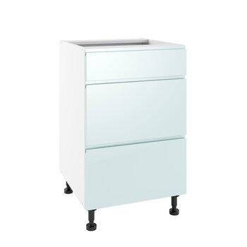 Virtuves skapītis Lupus Vegas 3S 50 cm, zaļš cena un informācija | Virtuves skapīši | 220.lv