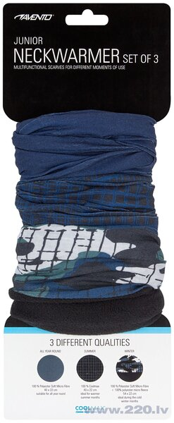Avento šalle Active, 3 gab., dark blue/green/black/white