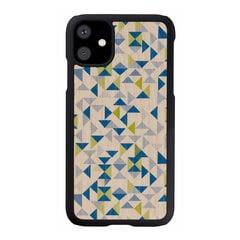 MAN&WOOD SmartPhone case iPhone 11 blue triangle black cena un informācija | Maciņi, somiņas | 220.lv