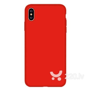 Devia Nature Series Silicone Case iPhone XS/X(5.8) red