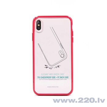 Devia Elegant anti-shock case iPhone XS/X(5.8) red