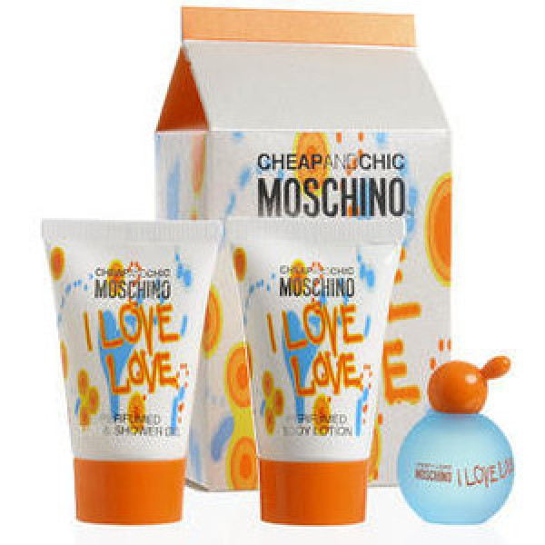 Комплект Moschino Cheap & Chic I Love Love: edt 4.9 мл + лосьон для тела 25 мл + гель для душа 25 мл цена и информация | Sieviešu smaržas | 220.lv