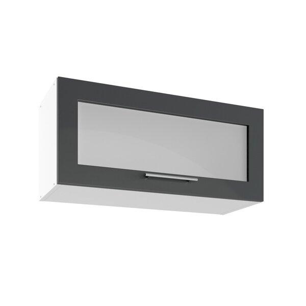 Sienas vitrīna skapītis Lupus Luna Mini 1D 80 cm, pelēks