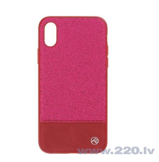 Tellur Cover Synthetic Leather Glitter II for iPhone X/XS pink