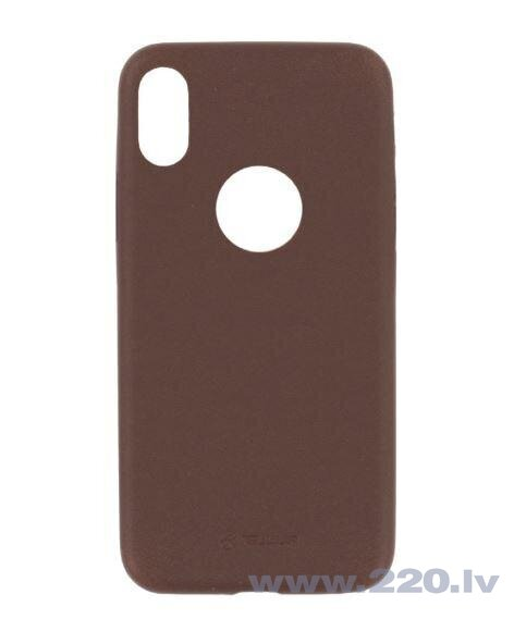 Tellur Cover Slim Synthetic Leather for iPhone X/XS brown