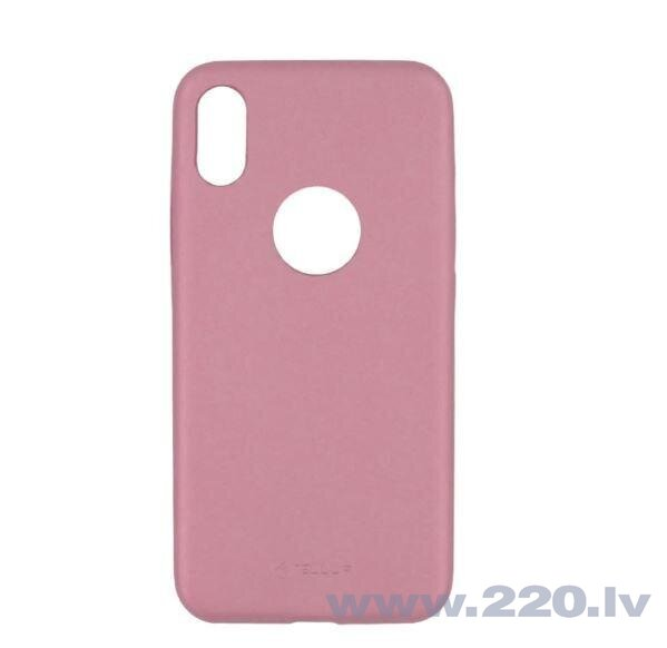Tellur Cover Slim Synthetic Leather for iPhone X/XS pink