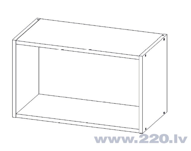 Sienas vitrīna skapītis Lupus Milano Mini 1D 60 cm, balts atsauksme