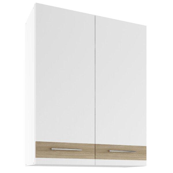 Sienas skapītis Lupus Lignum Max 2D 80 cm, balts/ozola krāsas